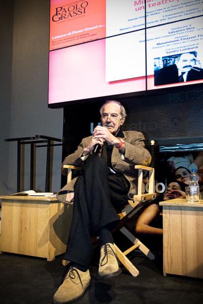 Salvatore Veca (allora Presidente della Fondazione Paolo Grassi-la voce della cultura)