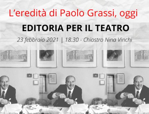 """""""Voce Libera: L'eredità di Paolo Grassi oggi""""   Diretta streaming dal Chiostro Nina Vinchi"""